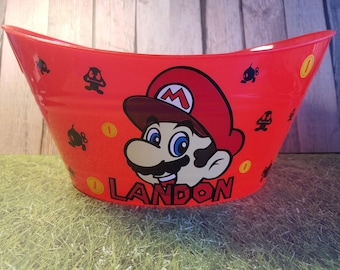 Oval Easter Tub, Toy Storage Basket with Mario