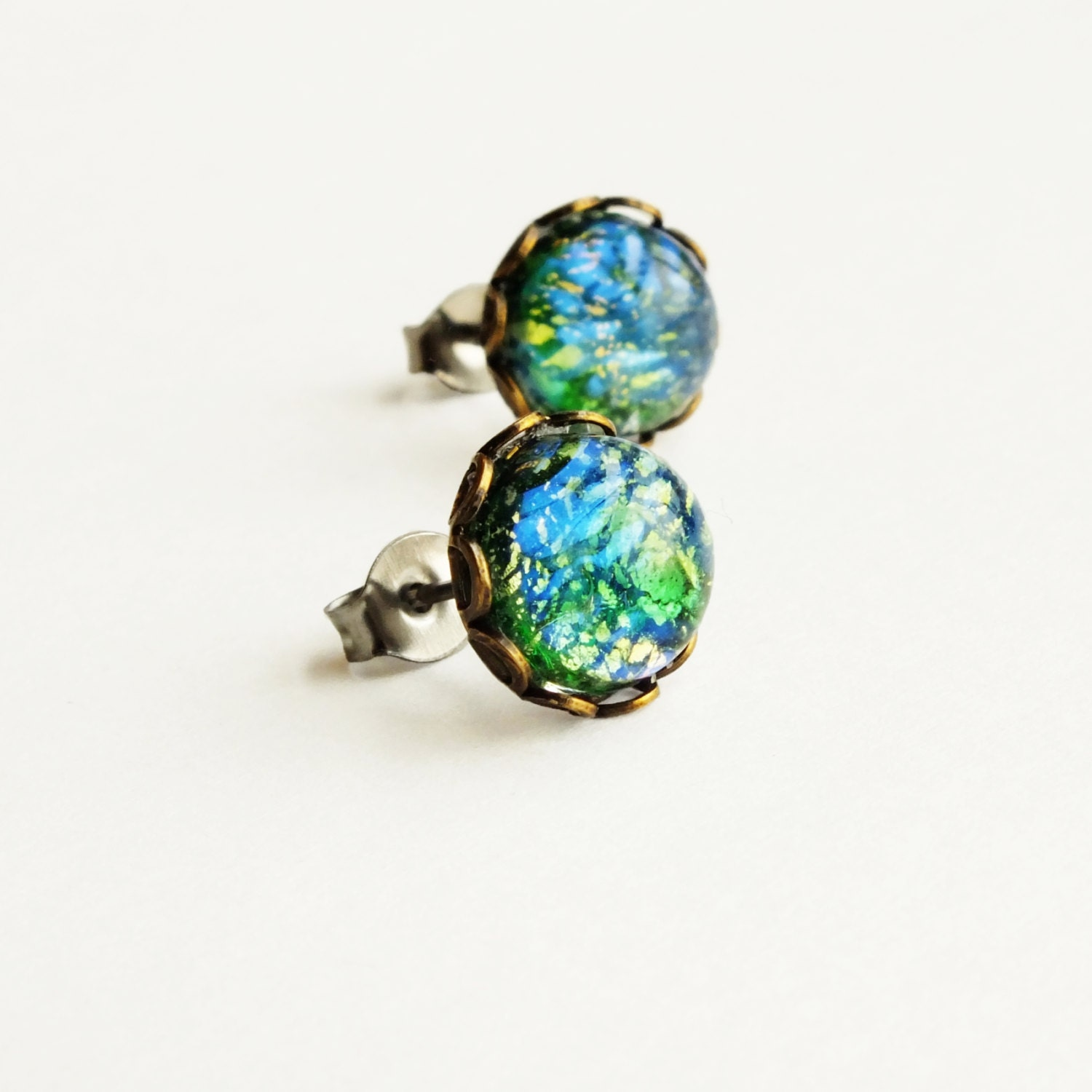 earring opal basement grace genuine studs wall fire earrings stud