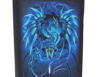 Sea Blade Journal, Blue Dragon, Notebook, Red Dragon  Notebook, Game night, Dragon Stationary, Magic, Journal, Dungeons and Dragons