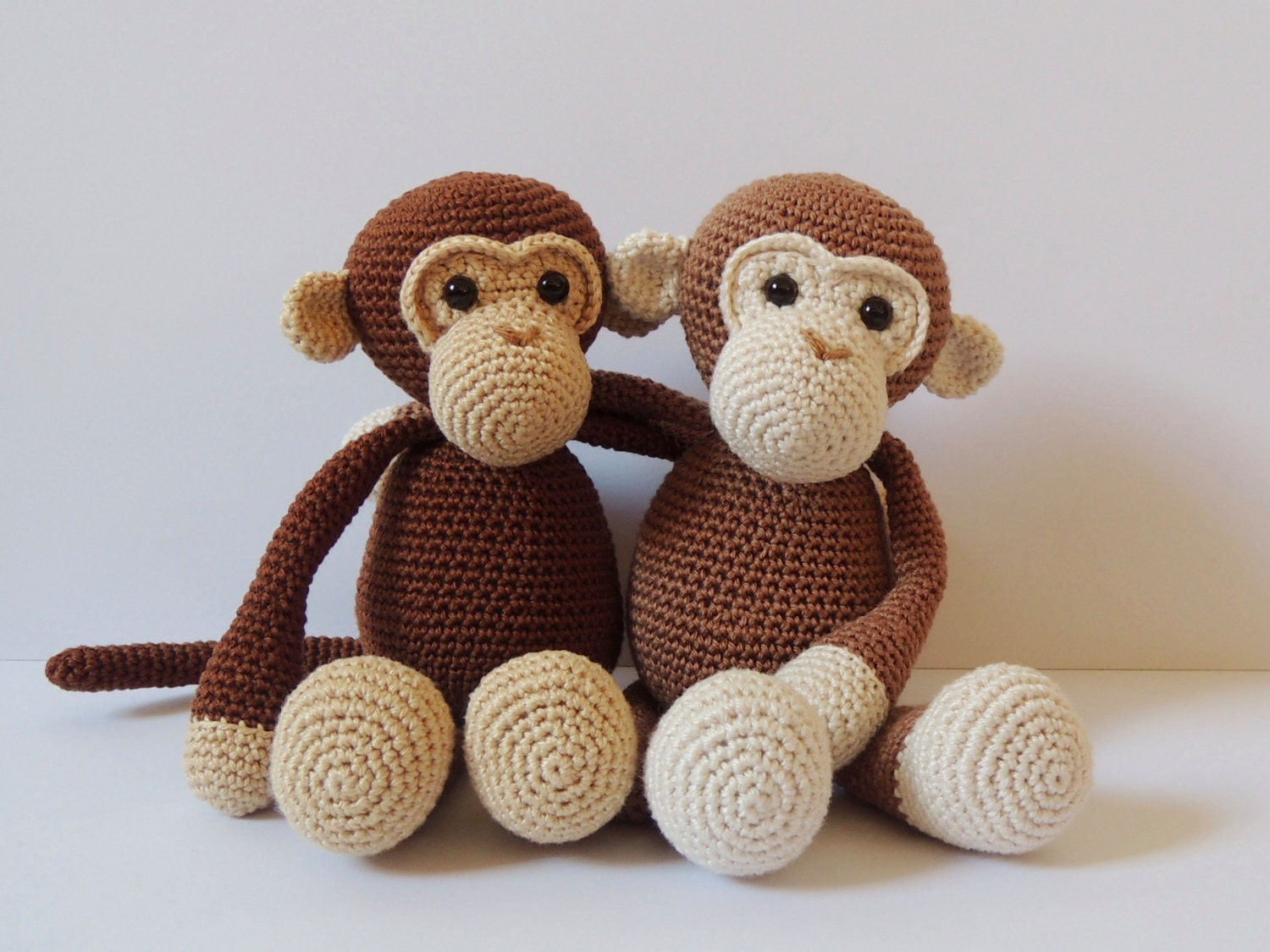 Amigurumi Monkey Patterns : Crochet pattern monkeys michel and robin amigurumi pattern