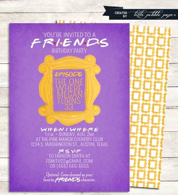 Friends tv show shower invitation bridal shower birthday filmwisefo