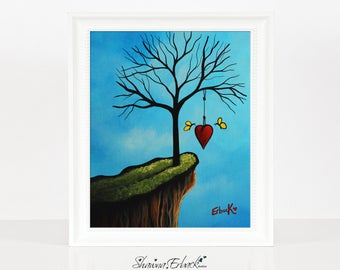New Beginnings Start With Love - Landscape Art - Dreamy Art - Fantasy Dreamy - Archival Giclee Prints - Signed - Erback Art