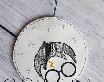 4x4 ITH HP Wizard Ornament - Embroidery Design INSTANT Download!