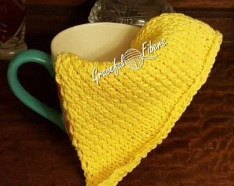 Lemon Spring Dishcloth Knit Pattern