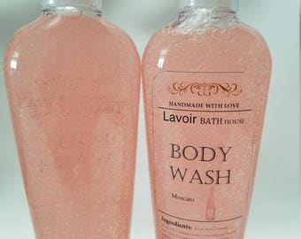 8.5 oz Moscato Body Wash, Moscato, Bubbl,y Body Wash, Body Wash, Liquid soap, Moisturizing Soap, Exfoliating Soap, Birthday, Valentines Day