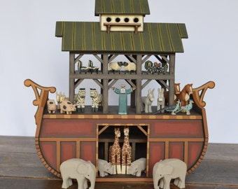 Wood Noah's Ark Handmade