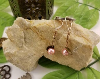 Pink Berry Dangle Earrings