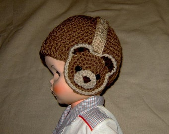 Teddy Bear Hat with Headphone Earwarmers/Earmuffs -INSTANT DOWNLOAD Crochet Pattern