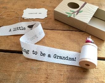 Pregnancy Announcement Card, Grandparent Announcement Card, Pregnancy Reveal Grandparents, Baby Announcement Grandparent,  Bird Grandma Gift