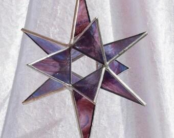 North star, Moravian star, Marsala, 12 point star, 3D, stained glass star, glass star, Christmas star, Christmas decoration, suncatcher