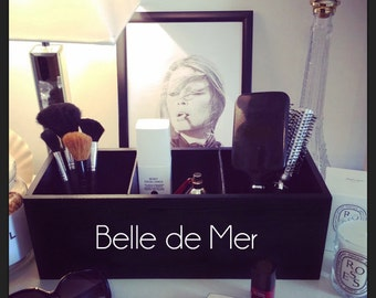 Belle de Mer ~ Black Storage Box / Make-up vanity