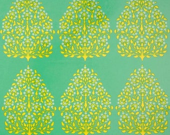 Amy Butler Lark Henna Trees Grass LAMINATE Fabric 1 yard