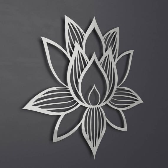 lotus flower metal wall art lotus metal art lotus flower. Black Bedroom Furniture Sets. Home Design Ideas