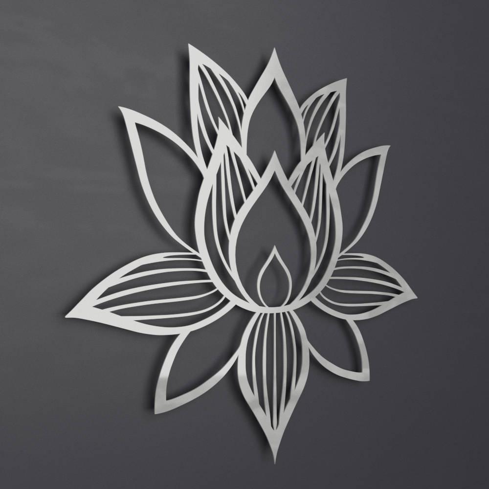 Lotus Flower Metal Wall Art Lotus Metal Art Lotus Flower