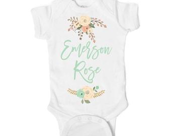 Custom Name Baby Onesie