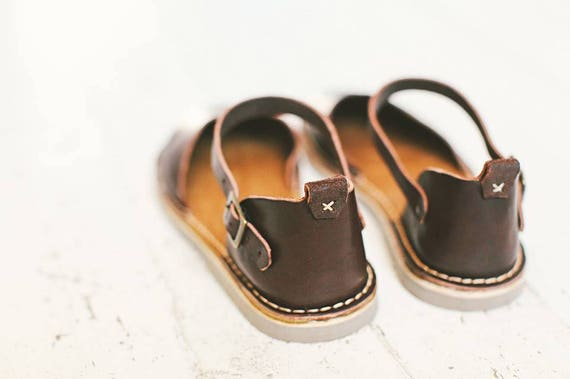 Shoes Flat Summer Leather Handmade Leather Slingback Shoes Women Leather Sandals Sandals Flats Sandals Summer Shoes Brown Brown anxFBW8ff