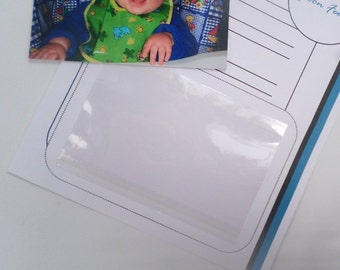 Easy Mount Self Adhesive Clear Photo Sleeves  4  packs for 120 page book JaDazzles Baby Memory Book