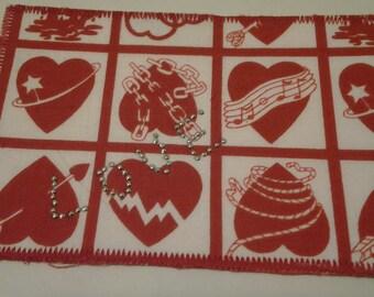 Valentine Fabric Postcards