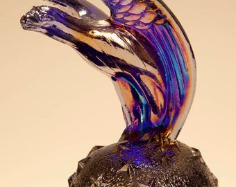 Vintage Bicentenial Iredescent Eagle Paperweight by Summit Art Glass