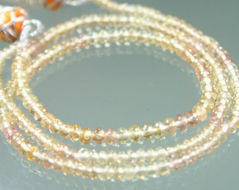 1/2 Strand of TOP QUALITY AAA Gorgeous Imperial Topaz Micro-Faceted Rondelles 4mm - 5mm Beads