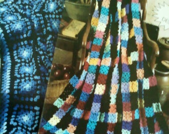 Two Crochet Afghan Books, Granny's Delight and Scrap Wraps