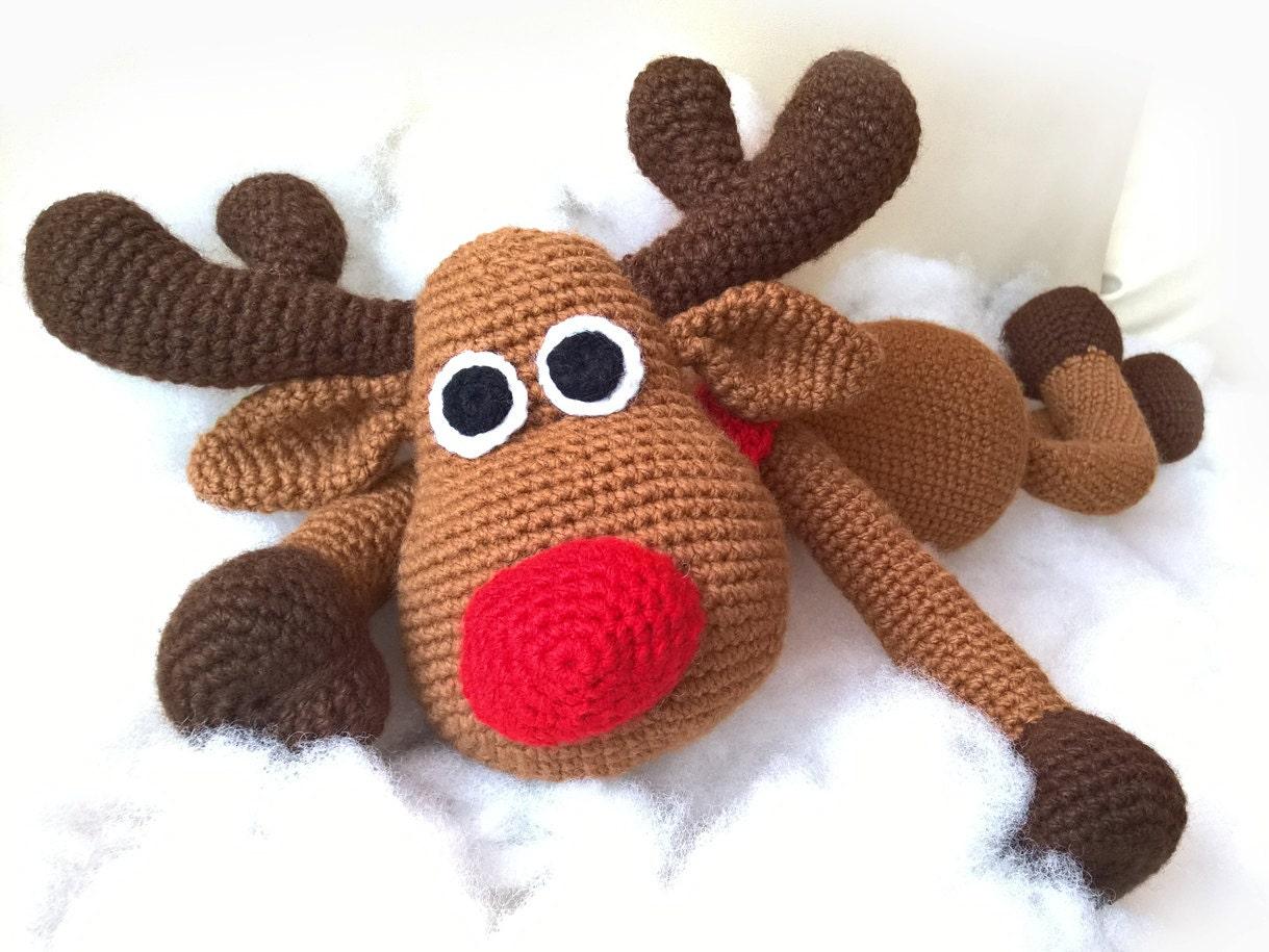 Amigurumi Reindeer Free Pattern : Sale crochet christmas deer patterns rudolph toy reindeer