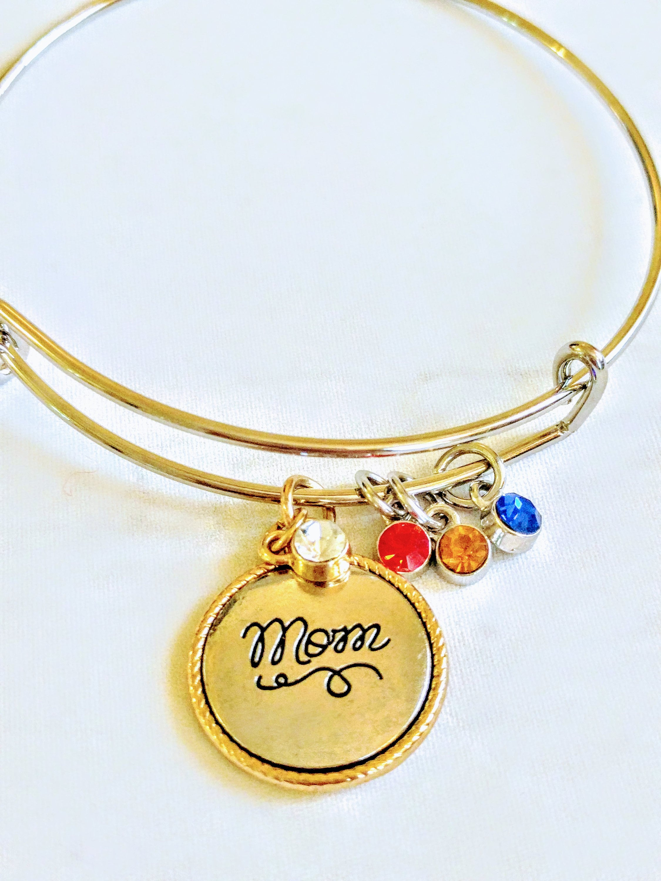 crdl mother bracelet silver charm day gift new birthstone il s bangle braceletgold custom mom fullxfull gold mothers listing