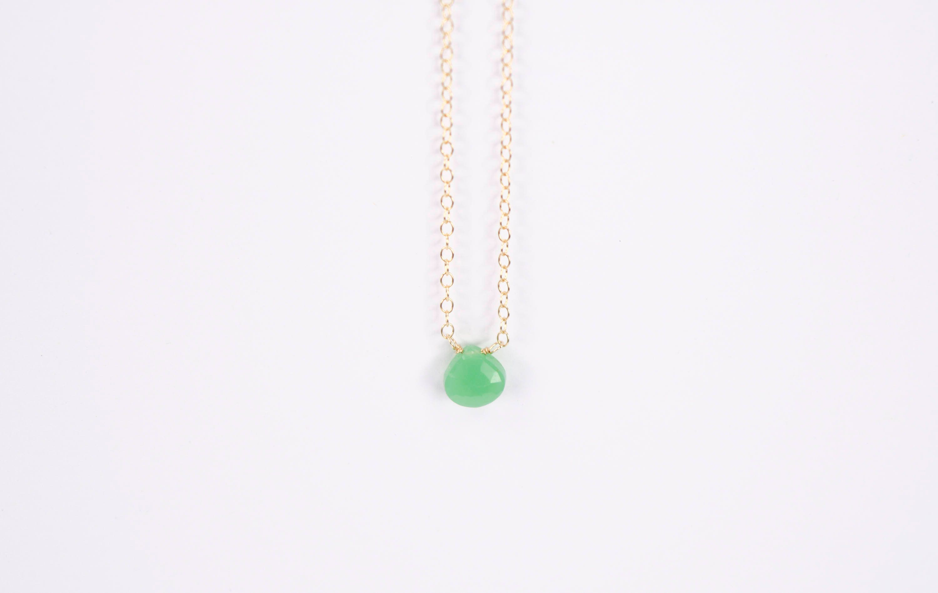 necklace brass statement gold emerald geometric pendant raw chrysoprase pin