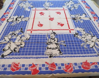 Vintage Tablecloth Broderie Reproduction