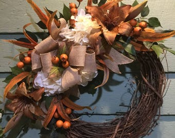 AUTUMN RUST WREATH