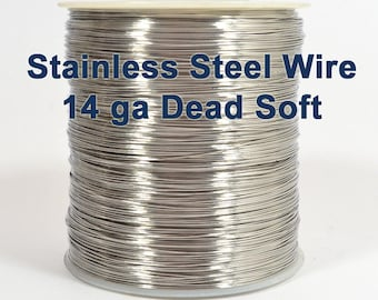 14ga Stainless Steel Wire - Dead Soft - Choose Your Length