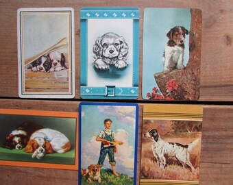 Dog Swap Cards Vintage Playing Cards Collection of 6
