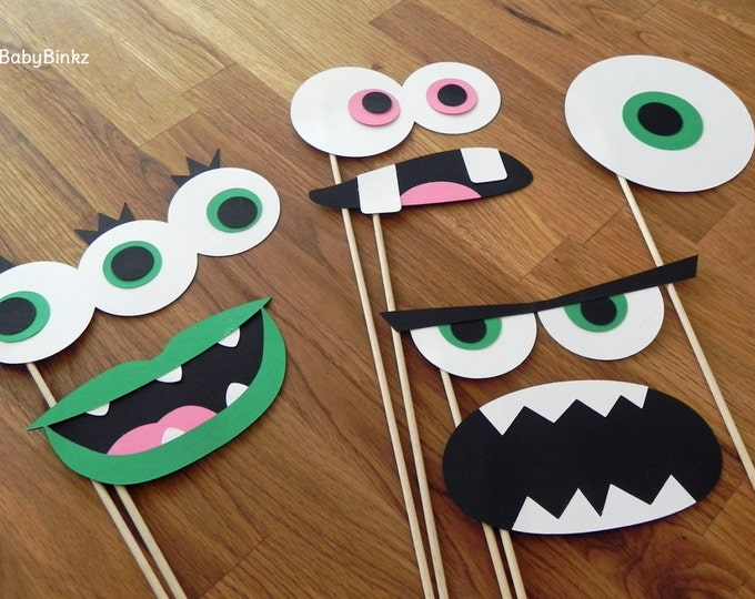Photo Props: The Monster Set (7 Pieces) - party wedding birthday engagement monster eyes mouth monster bash halloween