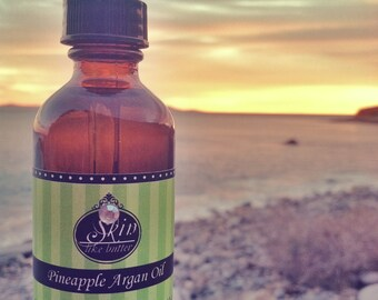 Pineapple ORGANIC ARGAN OIL || Cold Pressed || Available in a 2 or 4 oz glass bottle || Luxurioius Body Oil  and Hair Oil