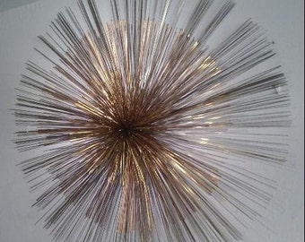 Curtis Jere 1986 Mid-Century Modern Sea Urchin/Sunburst Brutalist Sculpture.