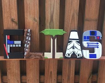 "8"" Star Wars Letters R2D2 Stormtrooper Chewbacca Yoda Darth Vader Bb-8 Luke Skywalker Princess Leia Han Solo Boba Fett C3PO Darth Maul"