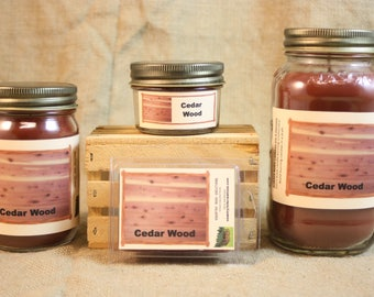 Cedar Wood Scent Candles and Wax Melts, Nature Scent Candle Wax, Highly Scented Candles and Wax Tarts, True Scent Candle, Top Seller