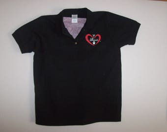 Heart of Love for Animals - Ladies Polo/Golf Shirt - Adult - Size L