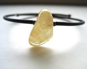 Citrine Bracelet, Citrine Stone Jewelry, Citrine Gemstone Cuff Bracelet, Gemstone Jewelry, Citrine Jewelry, Birthstone Bracelet