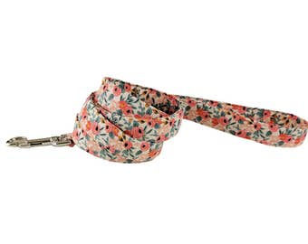 Colorful Peach Floral Spring/Summer Dog Leash