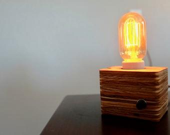 Edison bulb lamp. Table lamp. Simple. Desk. Minimalist lamp.