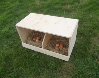 Chicken Nest Box / Chicken Coop / Hens / Birds / Poultry / Universal / Double