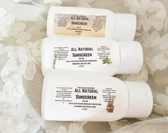 All Natural Organic Sunscreen
