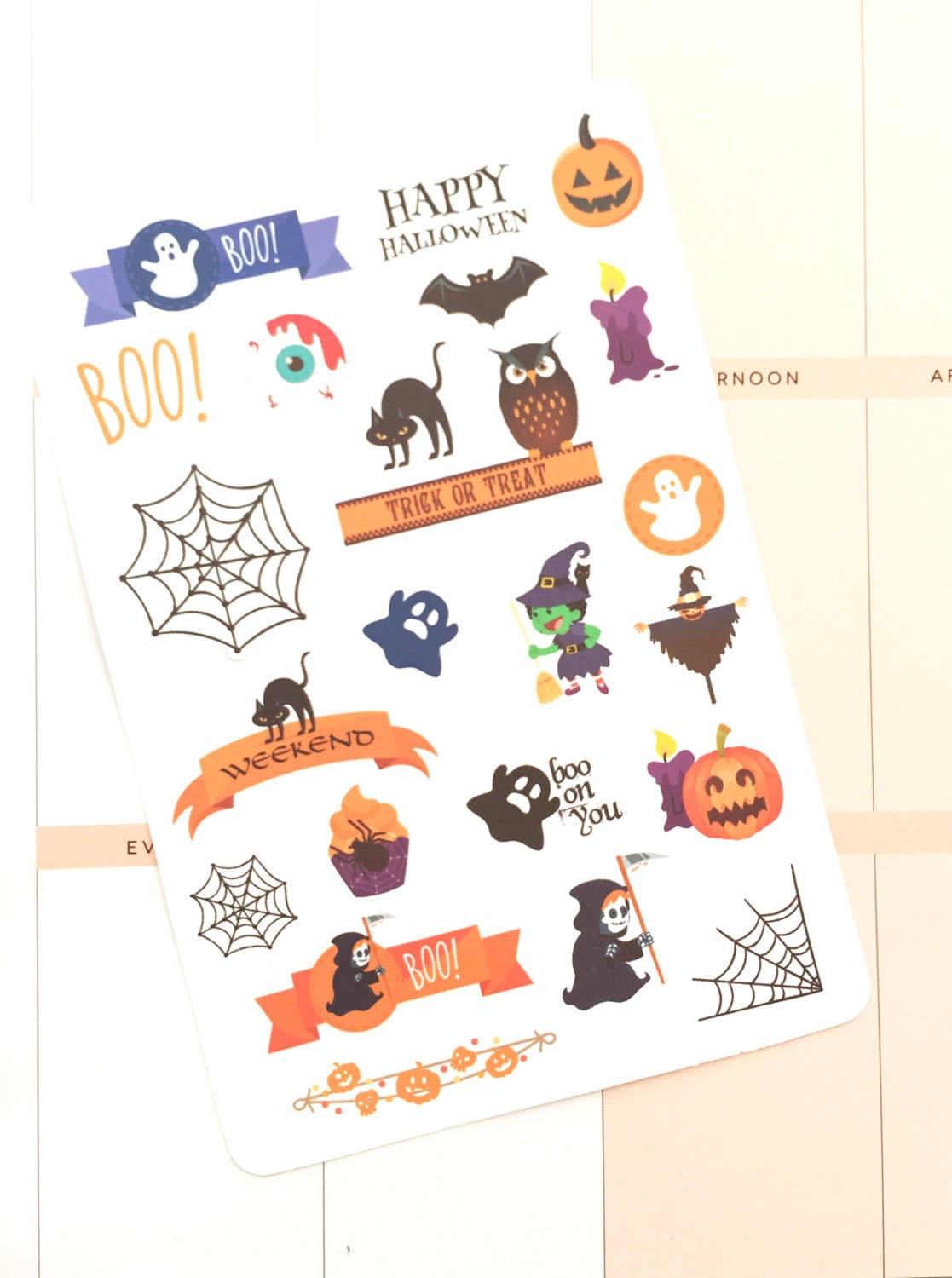 Halloween Stickers Halloween Planner Stickers UK Fall