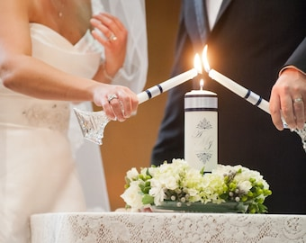 Wedding CUSTOM UNITY CANDLE with crystals