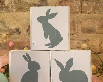 Easter Bunny Wooden Blocks