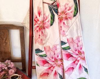 Peonies baby girl pink blanket