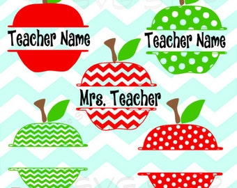 Split Apples SVG and studio files for Cricut, Silhouette, Vinyl Cutters and Screen Printing