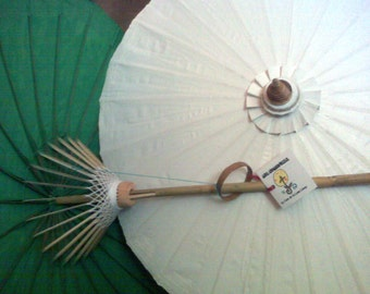 "Waterproof Cotton Canvas Parasols 28"" canopy & bamboo pole -  NEW COLORS AVAILABLE!"