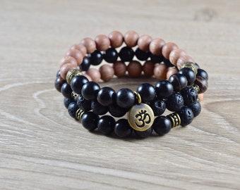 Obsidian Bracelet / protective gemstones, meditation bracelets, protective gemstone, grounding gemstone, group 14, group 15, group 16